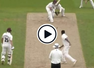 Watch: Ashwin opens bowling for Surrey in County Championship, bowls Somerset No.3 with beauty