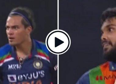 Watch: Chahar sends off Hasaranga, Hasaranga applauds Chahar