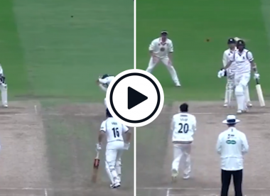 Watch: Axar Patel's bizarre caught and bowled during spell at Durham