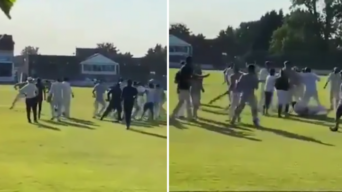 Charity cricket match abandoned after massive, bat-swinging fight breaks out