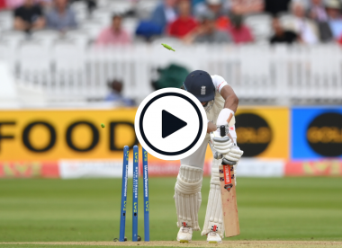 Watch: Haseeb Hameed bowled for golden duck in first Test innings in five years