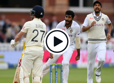 Watch: Fired-up Bumrah sees off Burns in hostile opening spell