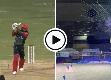 Watch: 41-year-old Chris Gayle smashes stadium window with dead-straight six in CPL 2021