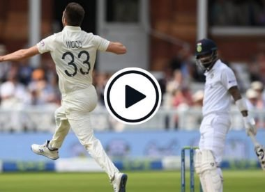 Watch: Mark Wood rips out KL Rahul with 93.7mph missile