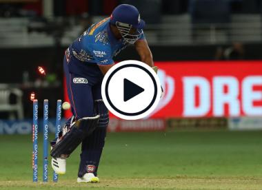 Watch: Uncapped Indian bowler rips out Hardik Pandya, Kieron Pollard in match-winning IPL hat-trick