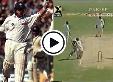 Watch: When the run out of Sachin Tendulkar against Pakistan brought the game to a standstill at Eden Gardens