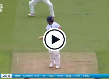 Watch: Woakes dismisses Rohit with gorgeous away-swinging lifter in first Test over in a year