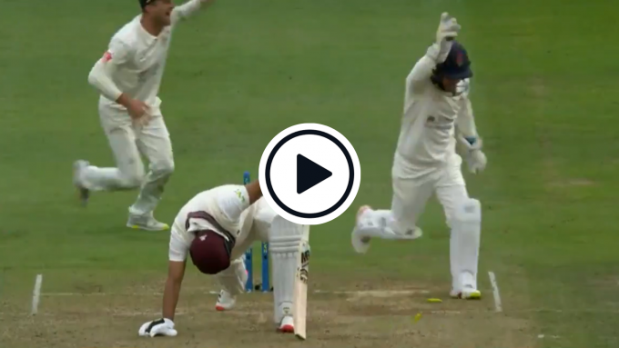 Watch: County part-timer gets Pakistan great stumped with leg-spin beauty in top-division clash