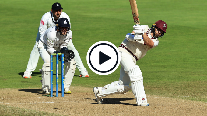 Watch: Jack Leach smashes six in potentially County Championship title-deciding knock
