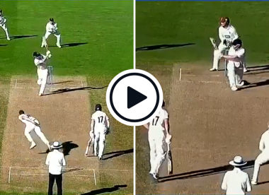 Watch: Dom Sibley reverse sweeps Leach, flicks pair of glorious sixes in pivotal County Championship 'blitz'
