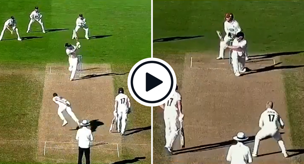 Watch: Dom Sibley Reverse Sweeps Leach, Flicks Pair Of Glorious Sixes In County Championship 'Blitz'