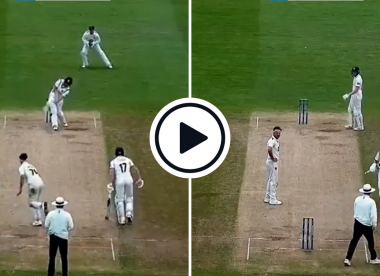 Watch: County umpire raises finger for LBW appeal, changes mind, signals leg bye in Championship title decider