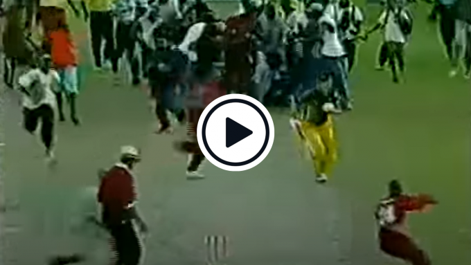 Watch: 'Absolute chaos' - When repeated crowd invasions led to an ODI tie