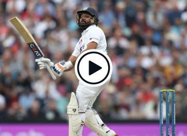 Watch: Rohit Sharma pulls second new ball long-hop down deep square's throat