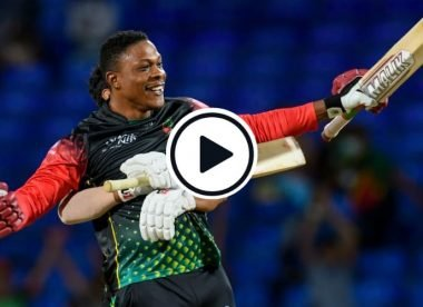 Watch: No.9 Sheldon Cottrell smashes last-ball six to win CPL game