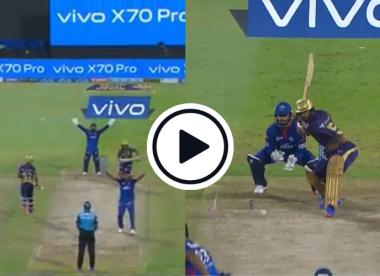 Watch: Rahul Tripathi blasts Ashwin hat-trick ball for six to narrowly avert one of the worst chokes of all time