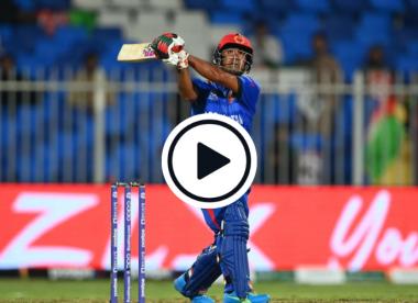 Watch: Najibullah Zadran smashes record-breaking 103-metre six