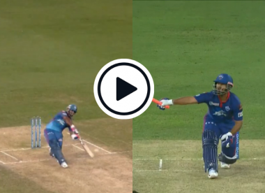 Watch: Rishabh Pant hits extraordinary one-handed 86-metre six into the stands