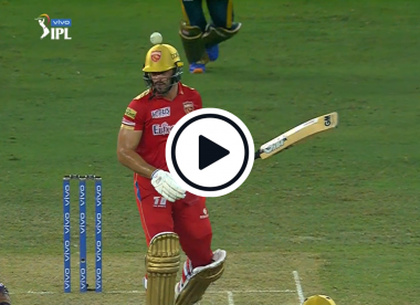 Watch: Aiden Markram left searching for ball before being bonked on helmet in amusing IPL moment