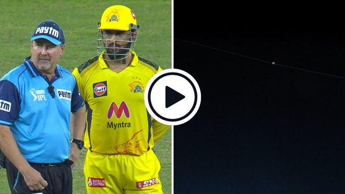 Watch: Ball hits spidercam to cancel out vital breakthrough in bizarre IPL final incident