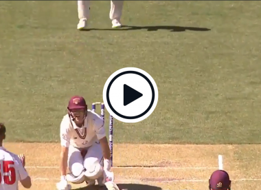Watch: 'He's sucking in the deep breaths' - Marnus Labuschagne gets laid out for 10 minutes after blow to groin
