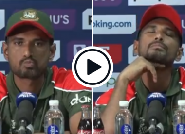Watch: Scotland's rousing dressing-room anthem interrupts Bangladesh post-match presser